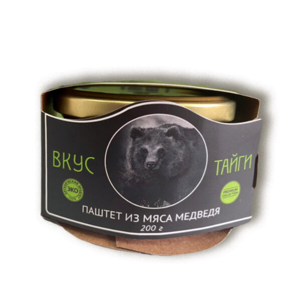 """Паштет из медвежатины """"Вкус тайги"""", 200 гр, стекло"""
