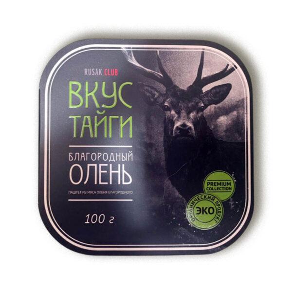 """Паштет из мяса благородного оленя """"Вкус тайги"""", 100 гр, ламистер"""